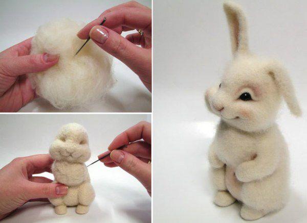 Как сделать валяную игрушку фото 362