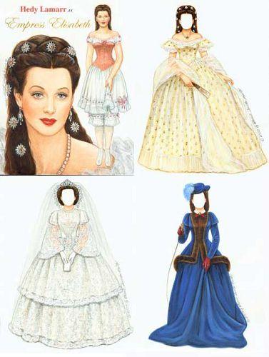 кукла из бумаги прошлых лет