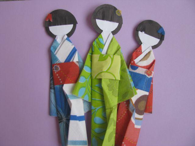 японка кукла из бумаги
