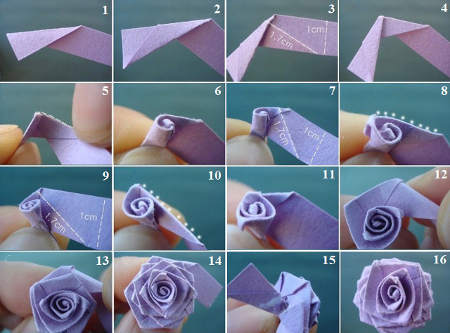 Как быстро сделать из бумаги розу