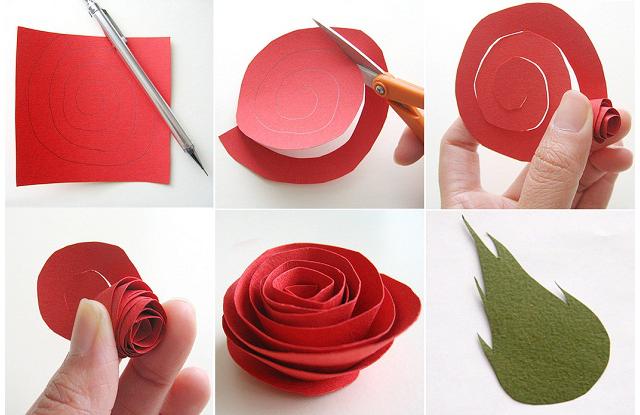 Цветы из бумаги своими руками с пошаговым фото