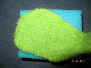 Как сделать зеленую шерсть