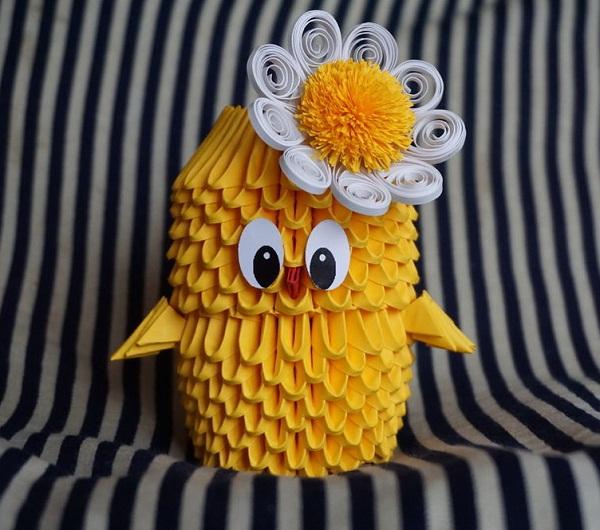 Модульное оригами цыпленок схема сборки фото 851