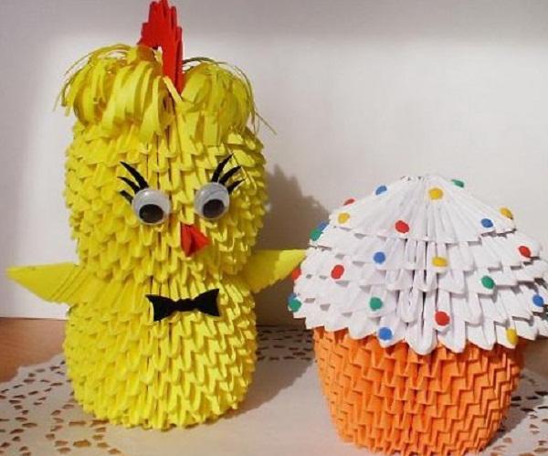 цыпленок оригами