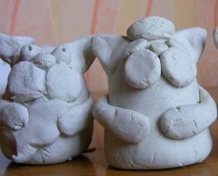 заготовка кота из глины