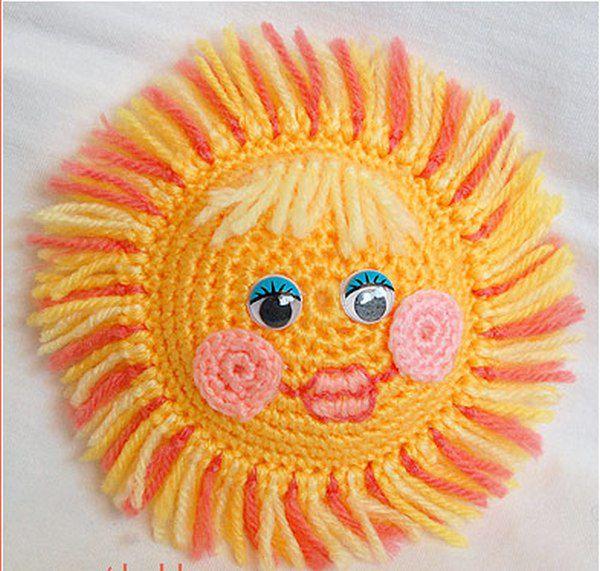 солнышко крючком