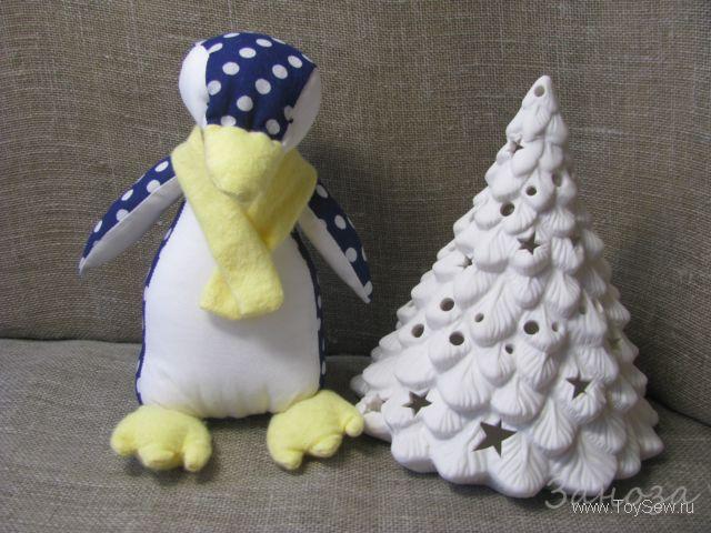 пингвин из ткани