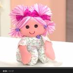 Куколка с розовыми волосами