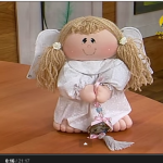 Пухлый ангелочек из ткани