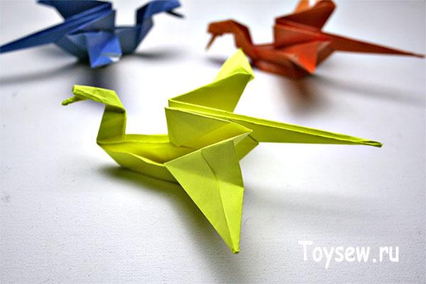 простой дракон оригами