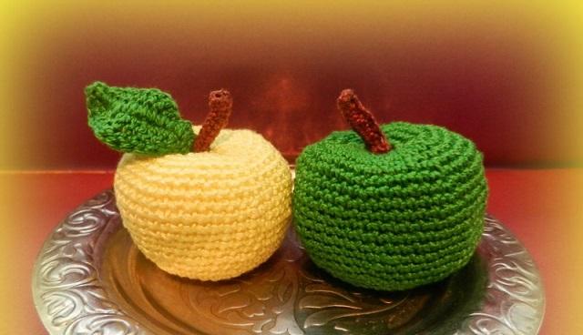 яблоки крючком