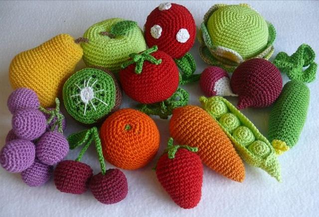 фрукты овощи крючком