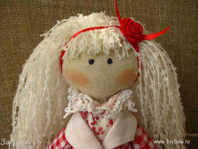 Кукла своими руками снежка