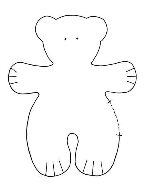 Выкройка тильда-мишки