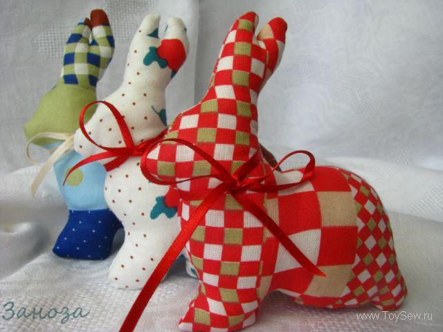 пасхальный кролик из ткани