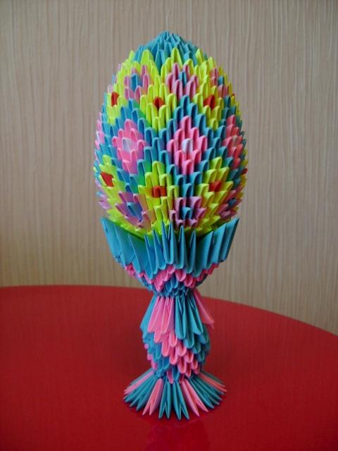 пасхальное яйцо оригами