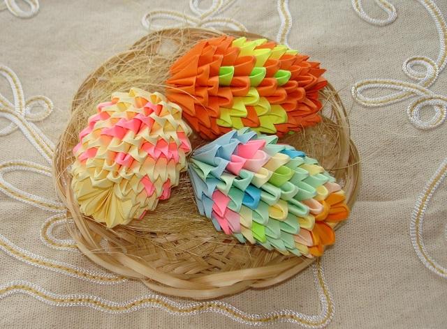 оригами пасхальные яйца