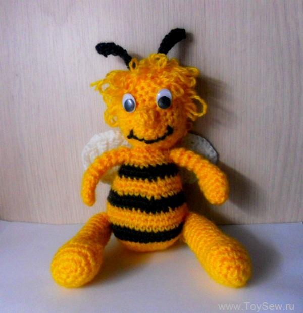 пчелка майя крючком