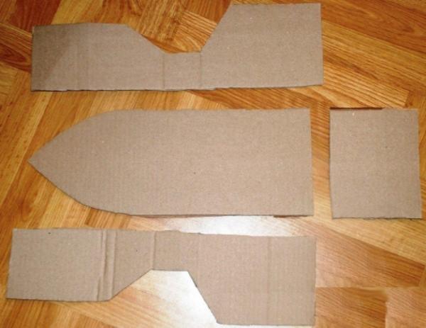 корабль из бумаги и картона-5