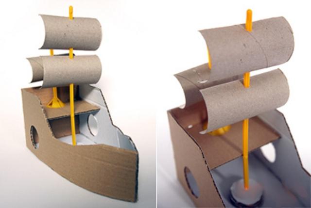 корабль из бумаги и картона-6
