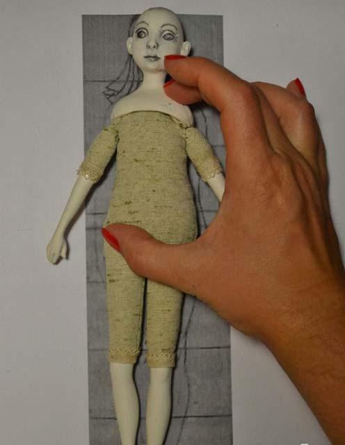 кукла из полимерной глины готова