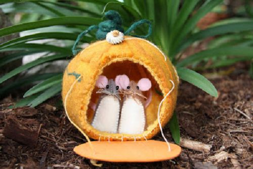 мышки из фетра