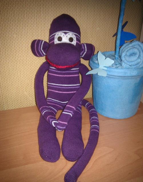 обезьянка из носка-11