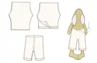 выкройка одежды для тильды