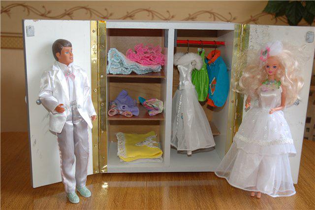 Шкаф для куклы барби своими руками фото 6