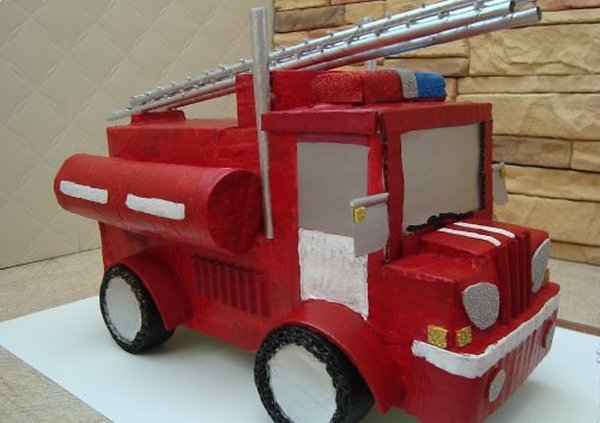Пожарная машина своими руками из дерева