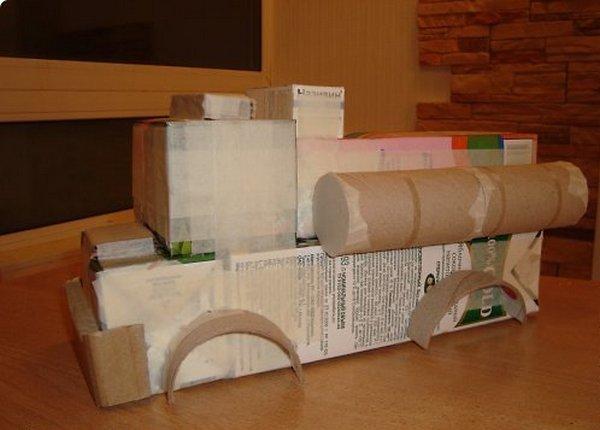 Делаем машинку из картона-5