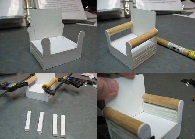 как сделать мебель для барби