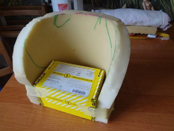 Кресло из коробочки