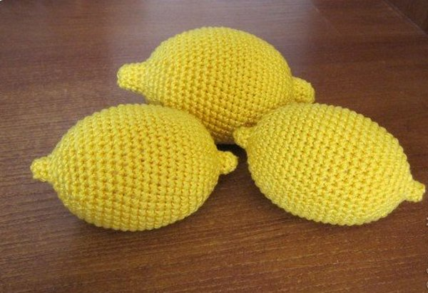 Вязаные фрукты игрушки крючком