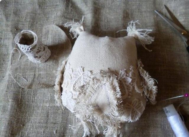 Сова из ткани-31