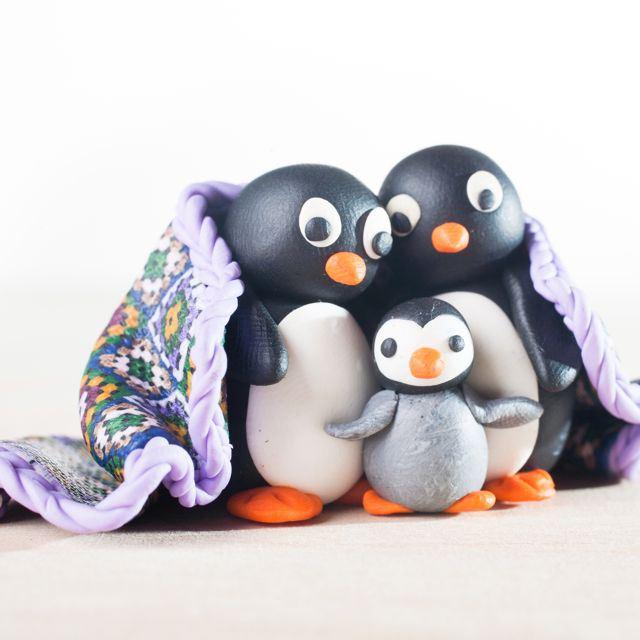 Пингвин из колобков-10