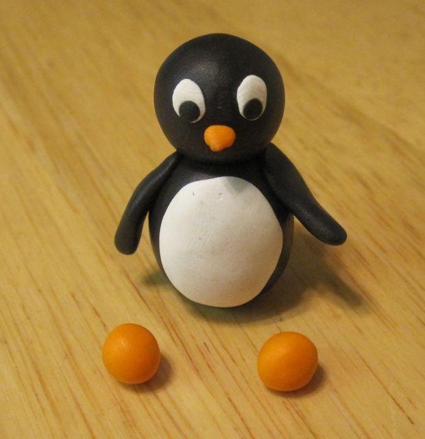 Пингвин из колобков-7