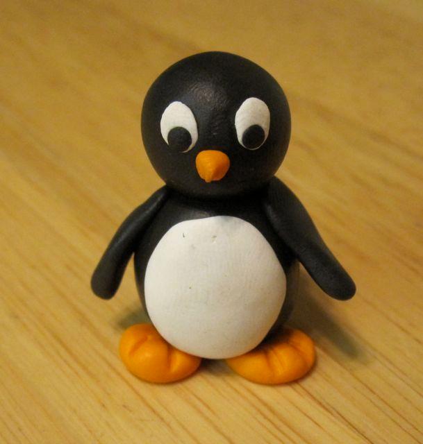 Пингвин из колобков-9