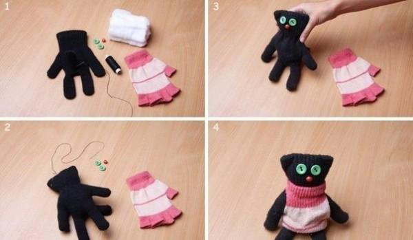 Котик из перчатки