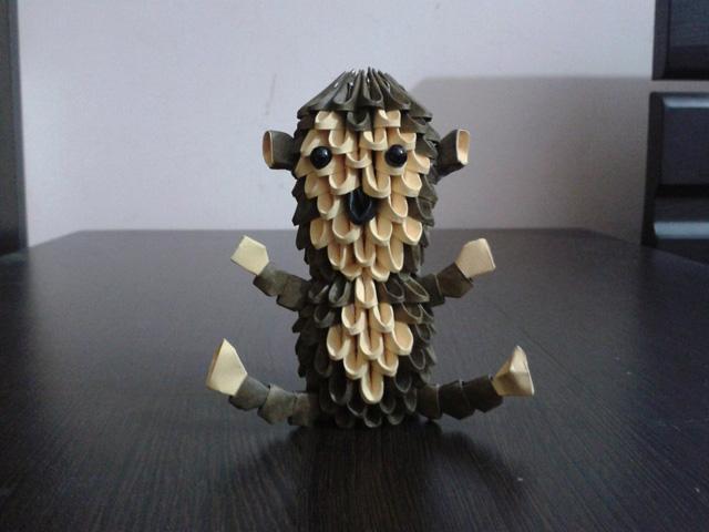 модульное оригами Обезьянка-4