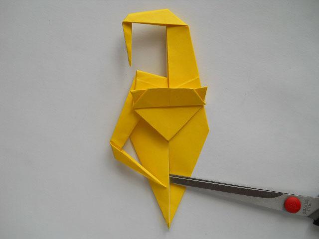 Обезьяна оригами-15