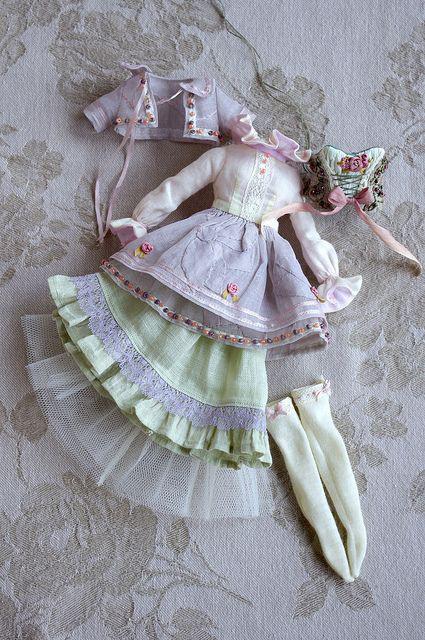 Платья бохо для тильды