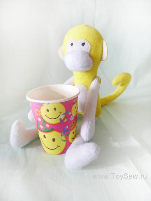 Шьем обезьянку из ткани-41