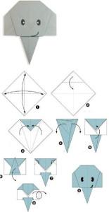 Слон из бумаги (оригами)-2
