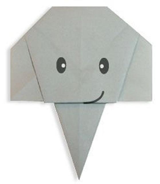 Слон из бумаги (оригами)-3