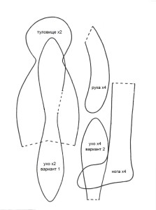 Стоячий зайка тильда
