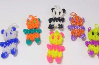 панда из резиночек