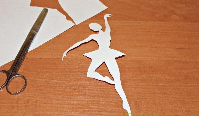 Балерина в пачке из снежинки-2