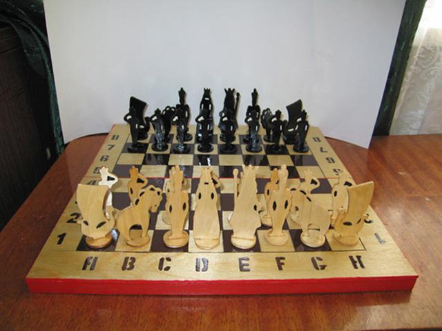 шахматы своими руками