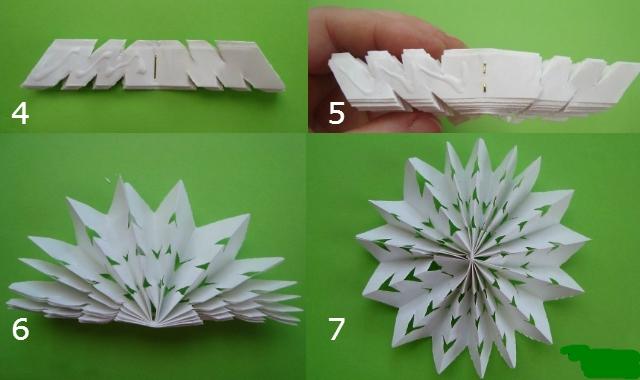 Снежинки из бумаги своими руками схемы пошагово фото 890